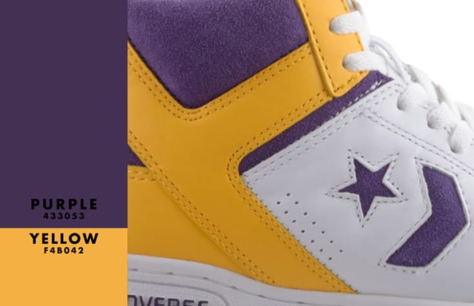 """Converse Weapon """"purple and Gold"""""""