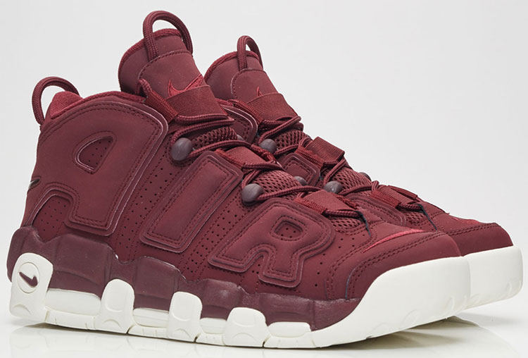 "Nike Air More Uptempo ""Bordeaux / Dark Maroon"""