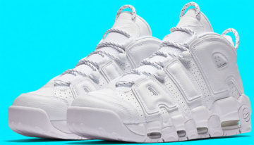 "Nike Air More Uptempo ""Triple White"""