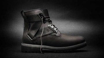 Timberland Volume VIII, an all-black 6-inch Premium Strap Boot.