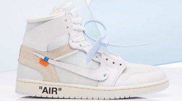 Air Jordan 1 x Off White blancas 2018