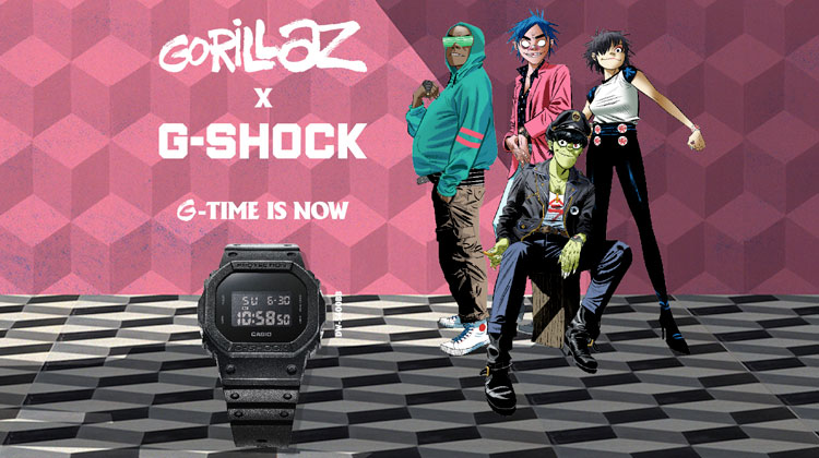G-Shock x Gorillaz - DW-5600BB limited edition