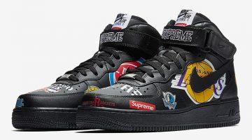 Nike Air Force 1 x Supreme x NBA 2018