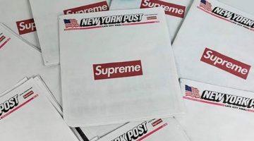 Supreme x New York Post: el hype en primera plana