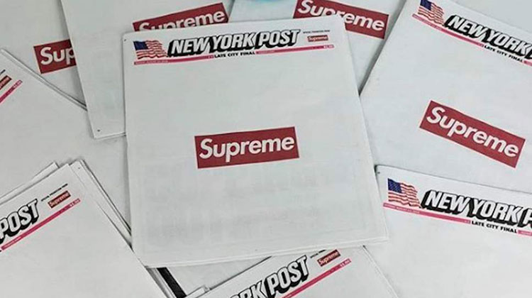 Supreme x New York Post: el hype en primera plana