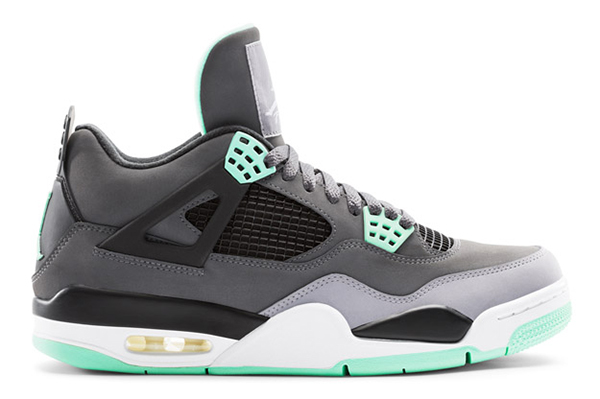Air-Jordan-4-GREEN-GLOW-lateral
