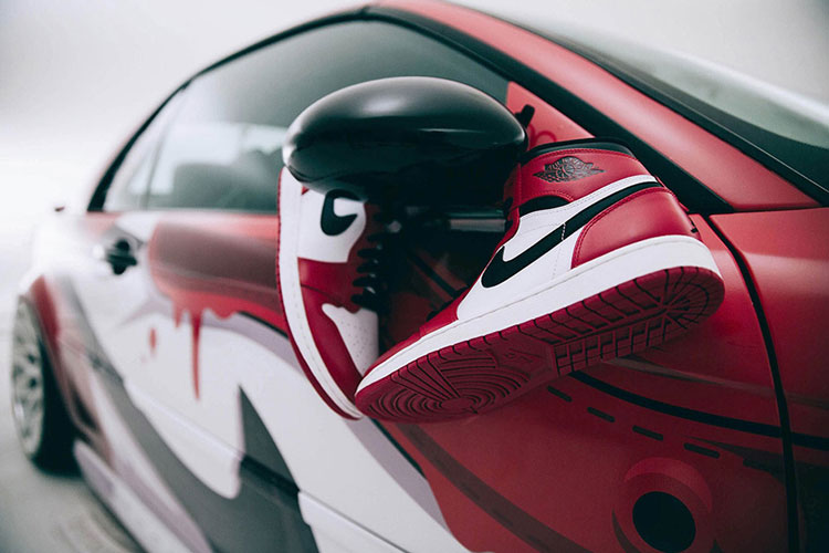"Air Jordan 1 ""Chicago"" BMW"