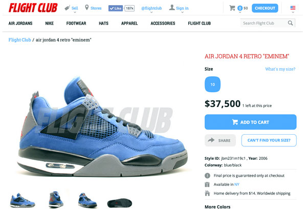 "Air Jordan IV ""Encore"" de Eminem"