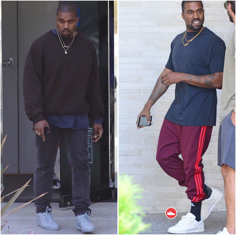 Kanye West usando zapatillas Yeezy Powerphase Calabasas