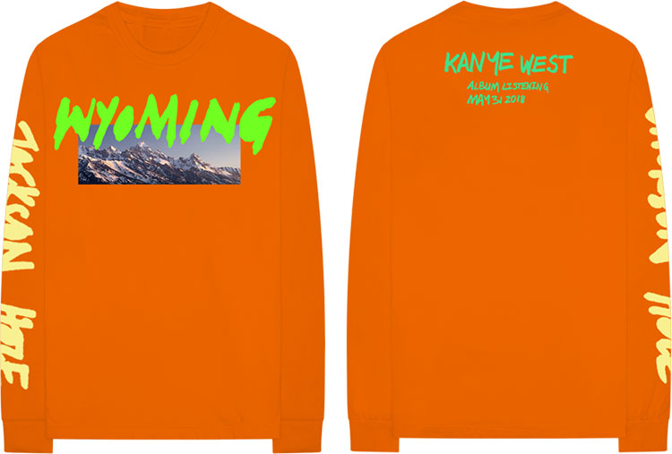 Kanye West - YE Merch Wyoming - remera naranja manga larga