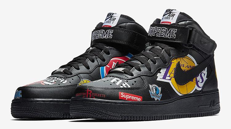 Bajar Mariscos Microprocesador  Nuevas Nike Air Force 1 x Supreme inspiradas en la NBA | SneakerHead  Argentina
