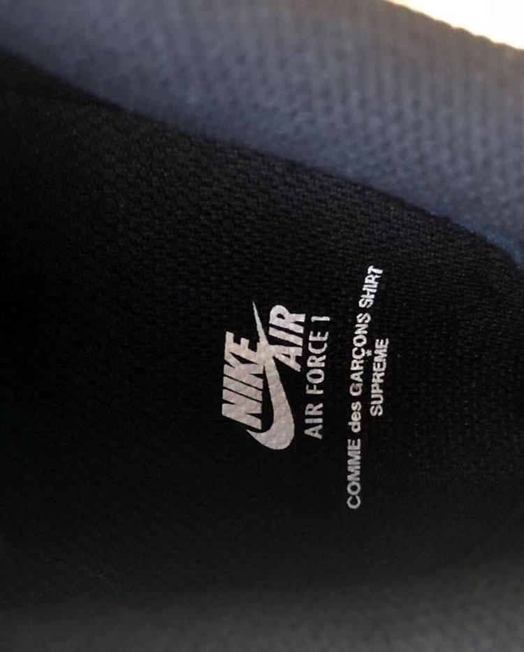 Nike Air Force 1 x Supreme x comme des garçons 2018